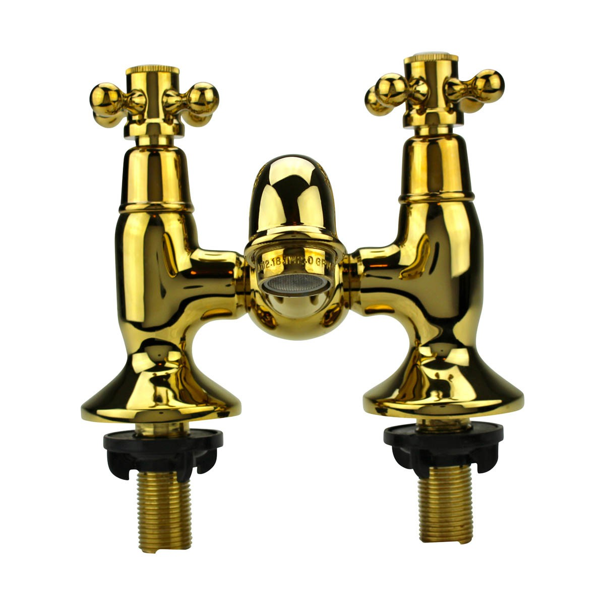 Tub Faucet Solid Brass Bridge 2 Cross Handle 4 Centerset plumbing modern contemporary chic design antique traditional classic authentic vintage unique fixtures accessories