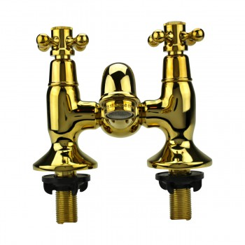 <PRE>Tub Faucet Solid Brass Bridge 2 Cross Handle 4inch Centerset </PRE>zoom5
