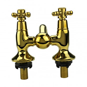 <PRE>Tub Faucet Solid Brass Bridge 2 Cross Handle 4inch Centerset </PRE>zoom7