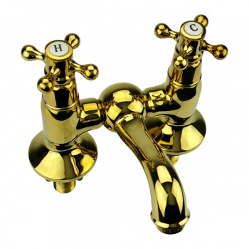 <PRE>Tub Faucet Solid Brass Bridge 2 Cross Handle 4inch Centerset </PRE>zoom1
