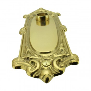 <PRE>Solid Brass Doorplate, No Keyhole, 7.75in H x 2.625in W Ornate</PRE>zoom4