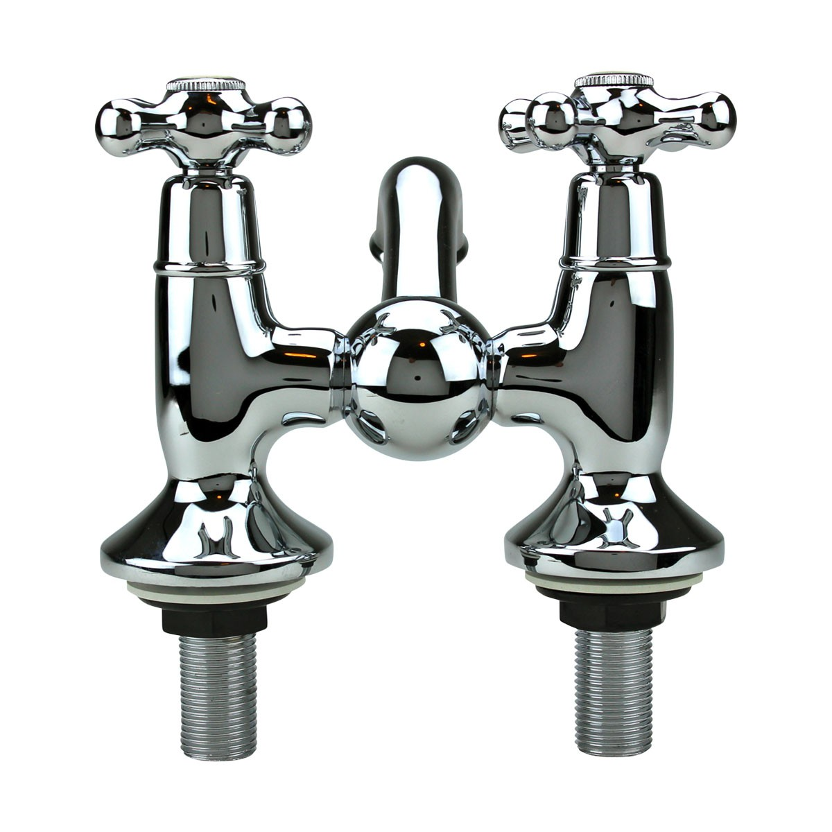 Tub Faucet Chrome Bridge 2 Cross Handle 4 Centerset 4 inch Bathroom Tub Faucets Centerset Faucet 4 Double Handle Faucet