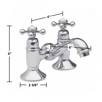 Bridge Faucet - Bridge Faucet Chrome and Porcelain by the Renovator's Supply