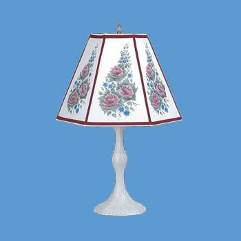 spec-<PRE>Table Lamp Rose Metal Parchment Shade 25&quot; H x 14 1/2&quot; W </PRE>