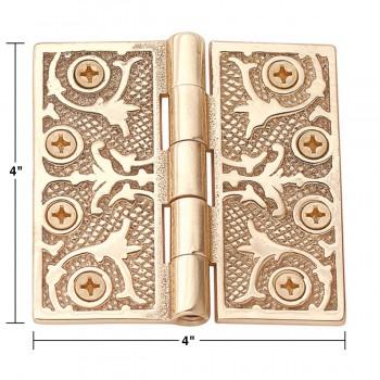 spec-<PRE>4&quot; Victorian Door Hinge Solid Brass No Finial </PRE>