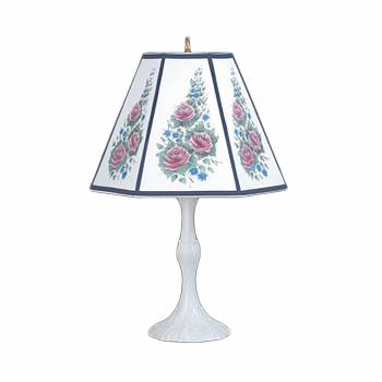 Table Lamp Navy Metal Parchment Shade 25