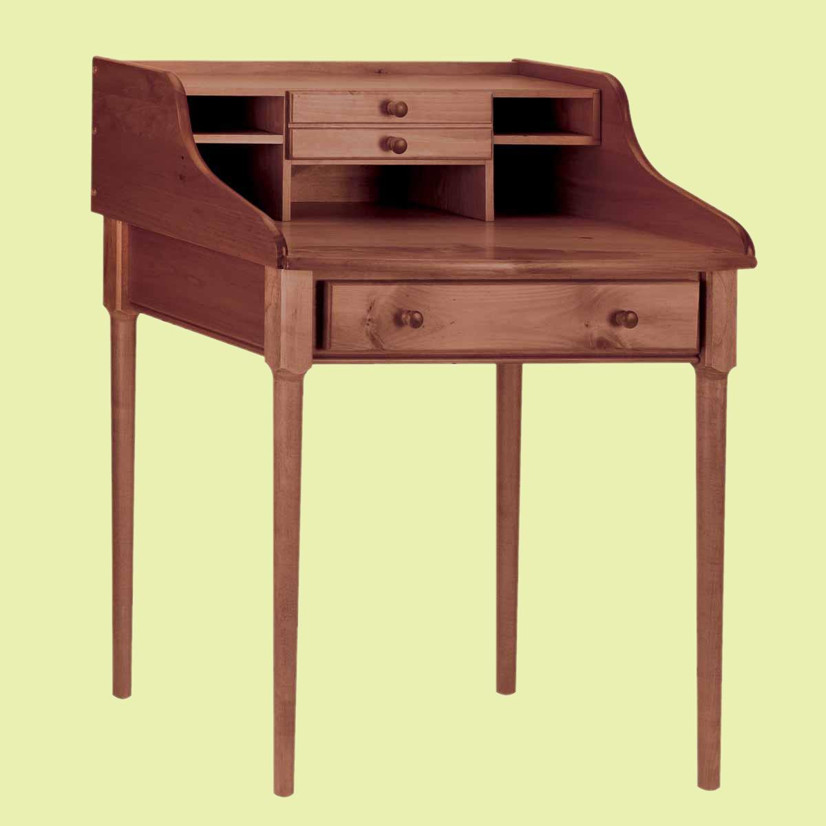 "Office Desk Antique Solid Pine Bradford Desk 30""W"