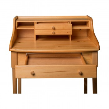 Office Desk Country Solid Pine Bradford Desk 30W Secretary Office Desk Wood Office Desk Storage Desk