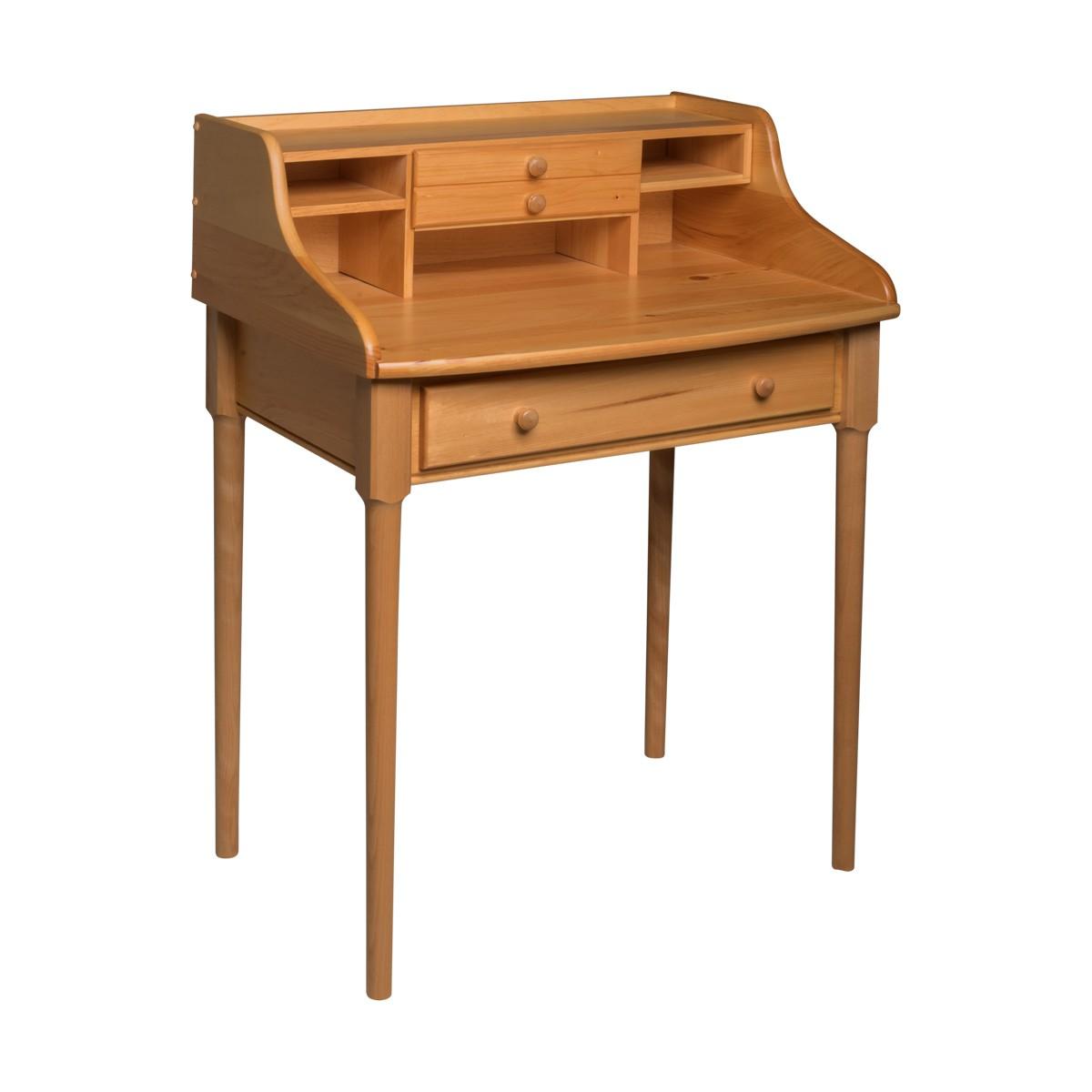 "Office Desk Country Solid Pine Bradford Desk 30""W"