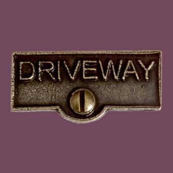Switch Plate Tags DRIVEWAY Name Signs Labels Cast Brass Switch Plate Labels Switch Plate ID Labels Switch Plate Tags