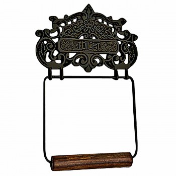 Black Aluminum Toilet Tissue Holder Princess Crown 10141grid