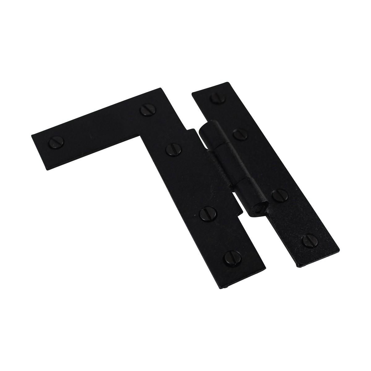 Offset HL Cabinet Hinge Black Iron Left 4 H Wrought Iron Door Hinges Black Door Hinges Rustproof Cabinet Hinges