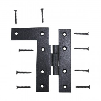 Offset HL Cabinet Hinge Black Iron Left 4 H Wrought Iron Door Hinges Black Door Hinges Rustproof Cabinet Hinges