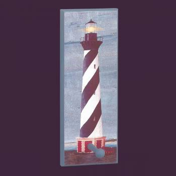 <PRE>Coat Rack Blue Wood Lighthouse Coat/Peg Rack </PRE>zoom2