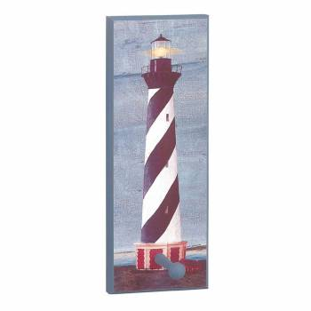 <PRE>Coat Rack Blue Wood Lighthouse Coat/Peg Rack </PRE>zoom1