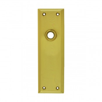 <PRE>Door Back Plate Bright Solid Brass Colonial Keyhole </PRE>