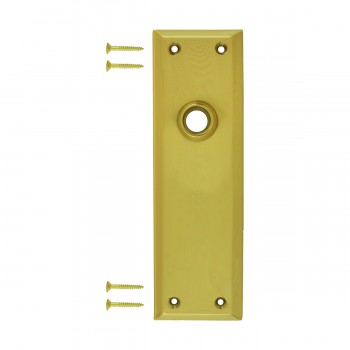Door Back Plate Bright Solid Brass Colonial Keyhole 10186grid