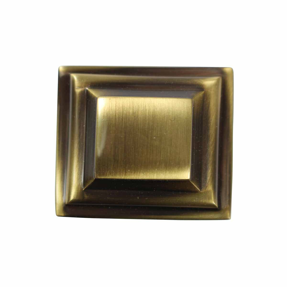 Cabinet Knob Cast Antique Brass 1 Square Brass Square Cabinet Knob Kitchen Modern Cabinet Hardware Antique Drawer and Cabinet Knobs