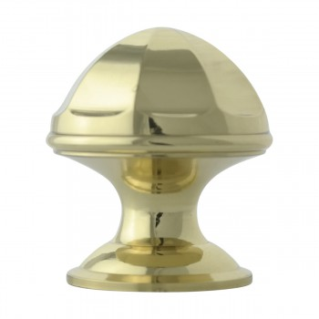 <PRE>Cabinet Knob Bright Brass 1'' Diameter Octogonal </PRE>zoom5