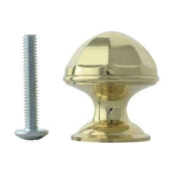 <PRE>Cabinet Knob Bright Brass 1'' Diameter Octogonal </PRE>zoom10