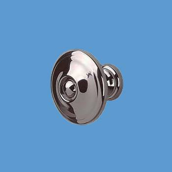 <PRE>Cabinet Knob Nickel Black Solid Brass 1inch Dia </PRE>zoom2