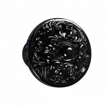 Cabinet Knob Nickel Black Solid Brass 1