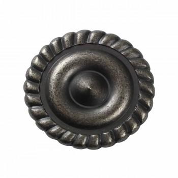 <PRE>Cabinet Knob Pewter Brass 1 1/4inch Dia </PRE>zoom3