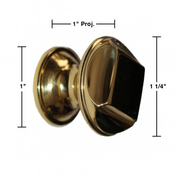 spec-<PRE>Knob Bright Solid Brass Brass Cabinet Knob  1 1/4 in. dia.</PRE>