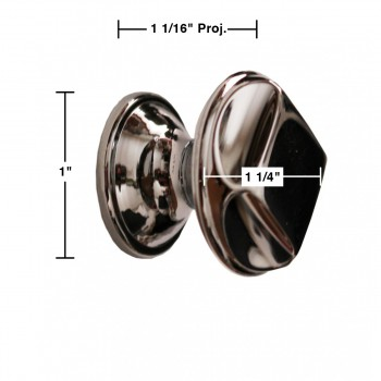 "spec-<PRE>Cabinet Knob Bright Chrome 1 1/4"" Dia </PRE>"