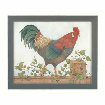 Framed Print Rooster Art 18.5
