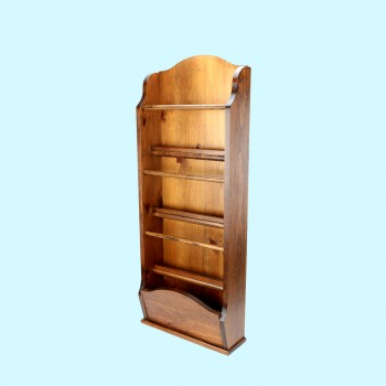 Magazine Rack or Paperwork Storage Organizer Antique Pine Wall Mount 40 H Magazine Rack Holder Paperwork Storage Organizer Rack Wall Mounted Magazine Rack