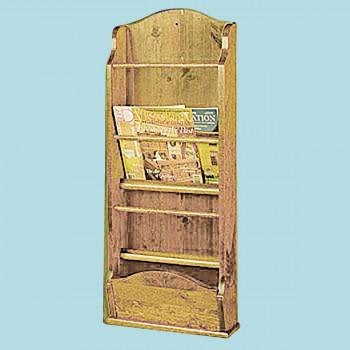 <PRE>Magazine Racks Heirloom Pine Wall Rack 40inchH </PRE>zoom2