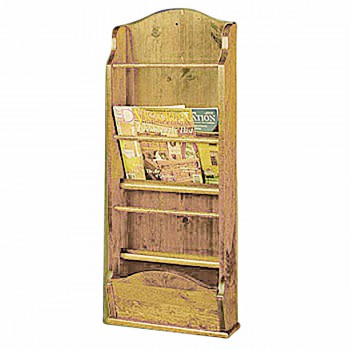 Magazine Rack Wall Mounted Heirloom Pine 40