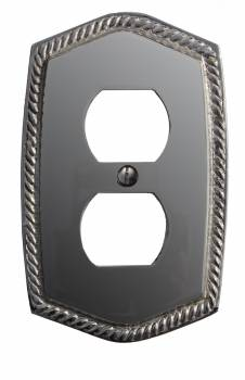 <PRE>Switchplate Roped Chrome 5 1/16&quot; H Single Switch </PRE>