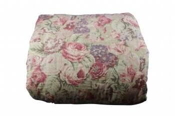 Waverly Lookout Mountain Queen Comforter Set Floral Pillow Shams,  Striped Dust Ruffle