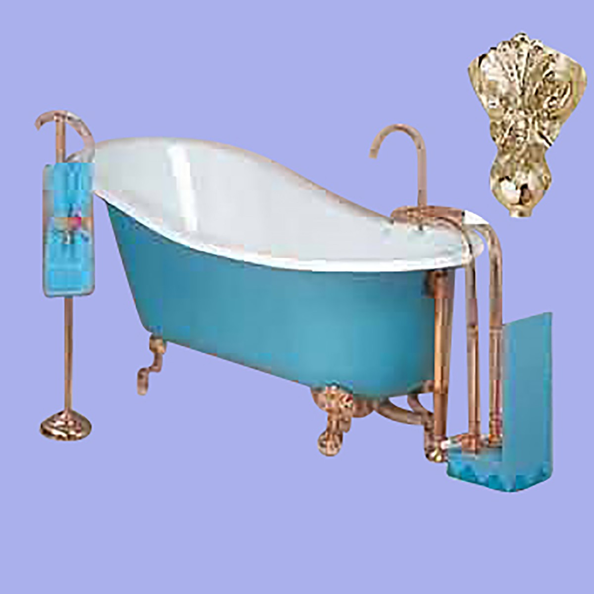 High Back Claw Foot Tub - home decor - Decordova.us