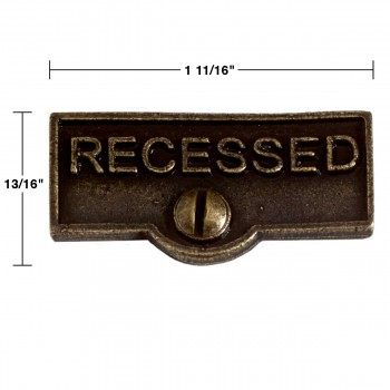 spec-<PRE>Switch Plate Tags RECESSED Name Signs Labels Cast Brass </PRE>