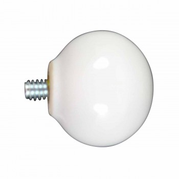 <PRE>Hook White Porcelain 1inch Replacement Ball Knob </PRE>zoom1