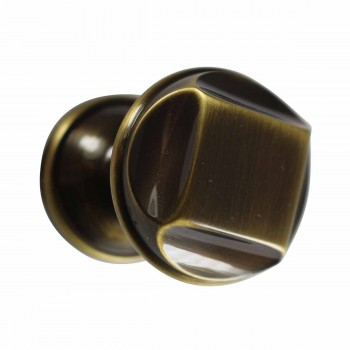 Cabinet Knob Antique Brass 1 1/4