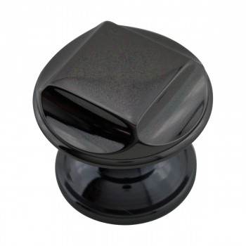 <PRE>Cabinet Knob Nickel Black Solid Brass 1 1/4inch Dia </PRE>zoom4