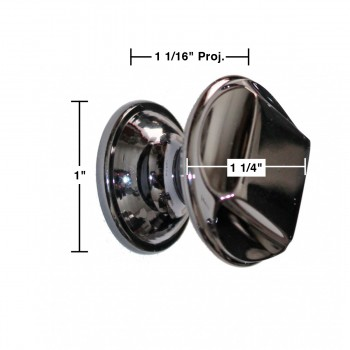 "spec-<PRE>Cabinet Knob Nickel Black Solid Brass 1 1/4"" Dia </PRE>"
