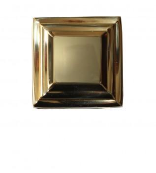 <PRE>Cabinet Knobs Square Solid Cast Brass 1.25&quot;H </PRE>