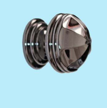 <PRE>Cabinet Knob Nickel Black Solid Brass 1 1/4&quot; Dia </PRE>