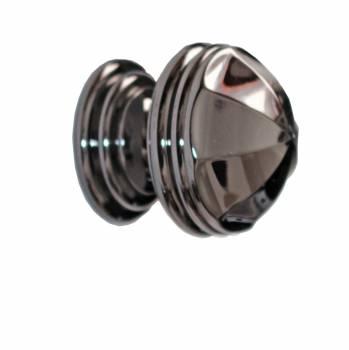 Octagonal Knob Black Nickel 1 1/4 inch