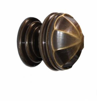 Cabinet Knob Antique Solid Brass 1 1/4