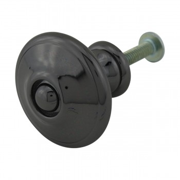 <PRE>Cabinet Knob Nickel Black Solid Brass 1 1/4inch Dia </PRE>zoom6