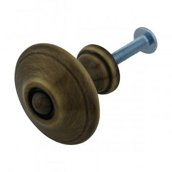 <PRE>Cabinet Knob Antique Solid Brass 1 1/4inch Dia </PRE>zoom6