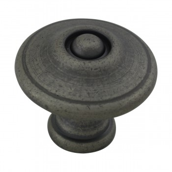 <PRE>Cabinet Knob Pewter Solid Brass 1 1/4inch Dia Colonial </PRE>zoom4