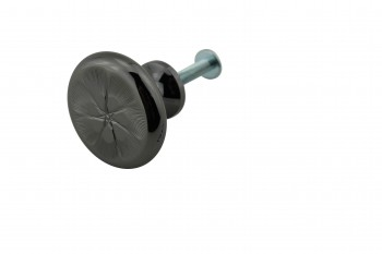 <PRE>Cabinet Knob Nickel Black Solid Brass 1 1/4inch Dia </PRE>zoom1