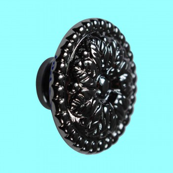 <PRE>Cabinet Knob Nickel Black On Brass 1 1/4inch Dia Floral </PRE>zoom2